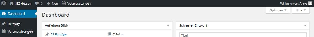 Hilfe-Dashboard-Topbar