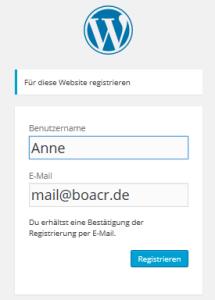 Hilfe-Registrieren-Benutzer